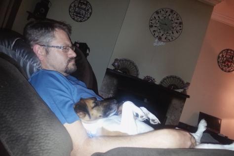 Leigh's dog bertie sleeping