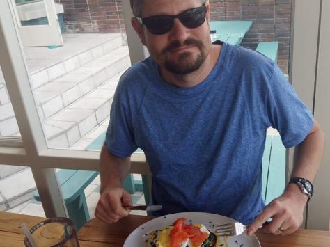 Eggs benedict at La Vie