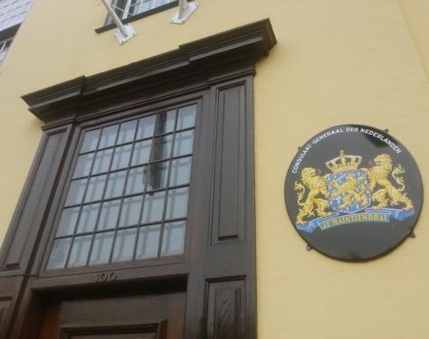 Netherlands embassy front door