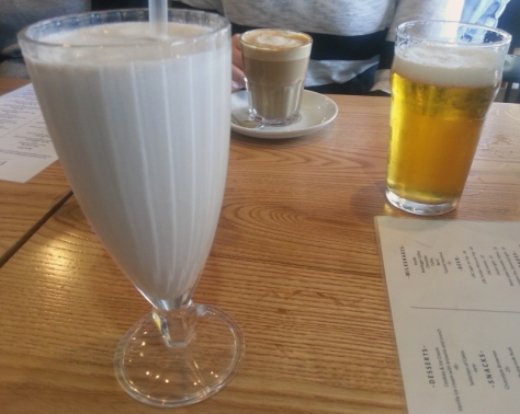 Toffee milkshake at Bootleggers, Kenilworth.