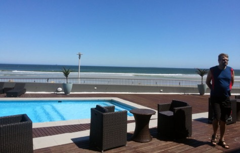 The outdoor pool at Lagoon Beach.