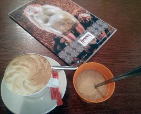 Cappuccino and menu at Rococoa
