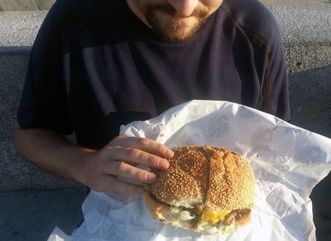 NOB chilli cheese burger