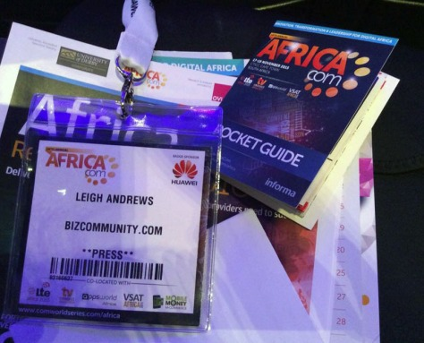 Press pass for AfricaCom at the CTICC