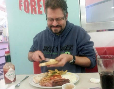 English breakfast at Joe's Diner