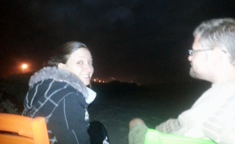 Watching fireworks on Blouberg beach