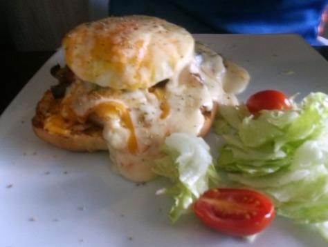 Breakfast burger at Foodlover's Market, Sunningdale