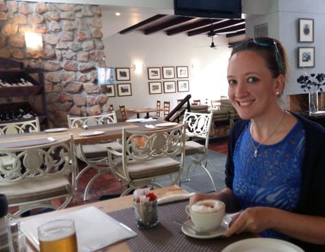 Cappuccino at McGregor's in Citrusdal
