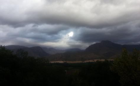Cold grey sky