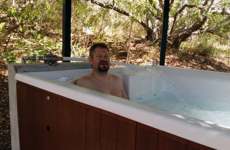Husband in Jacuzzi