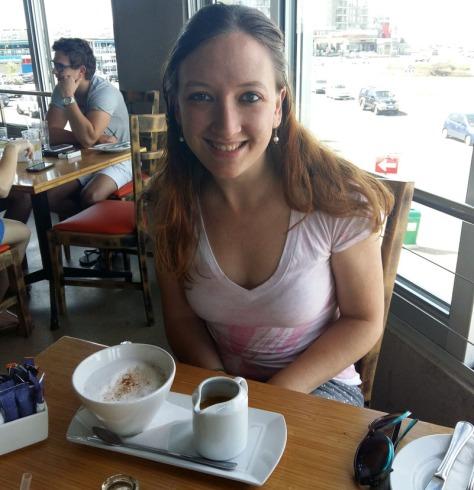 Large latte at Primi on Blouberg beach