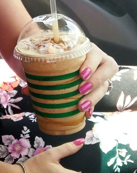 Caramel iced coffee from Reload
