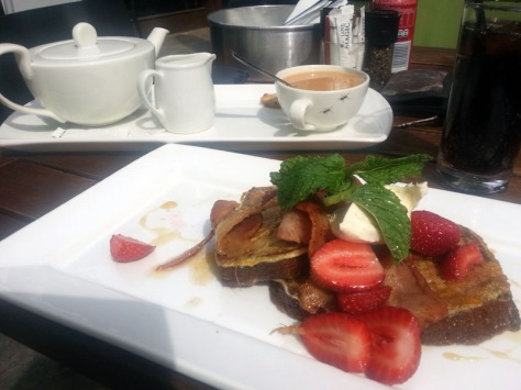 Banana bread French toast at Company's Garden.