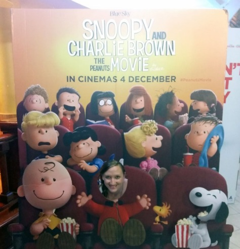 Snoopy movie cut-out at Grandwest Casino