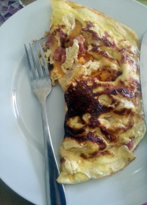 Homemade omelettes