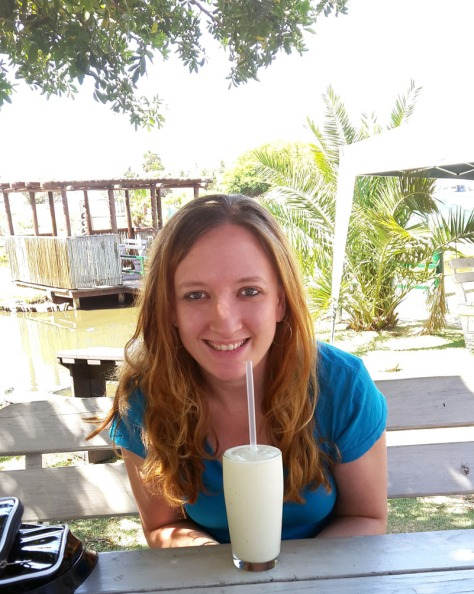 Custard milkshake at Driftwood Cafe