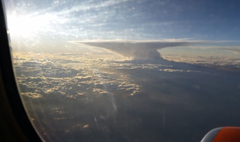 Clouds from plane window