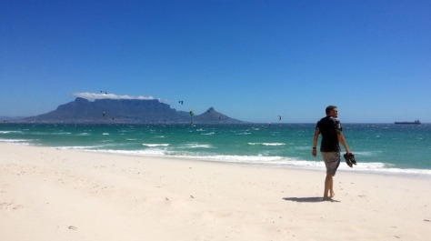 Kite surfers on Blouberg