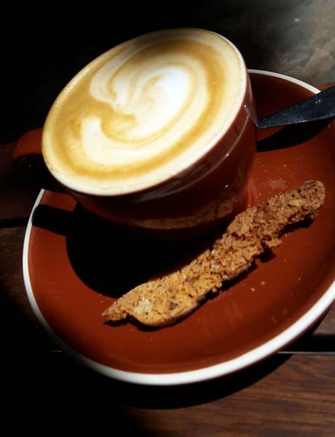Cappuccino at Company's Garden
