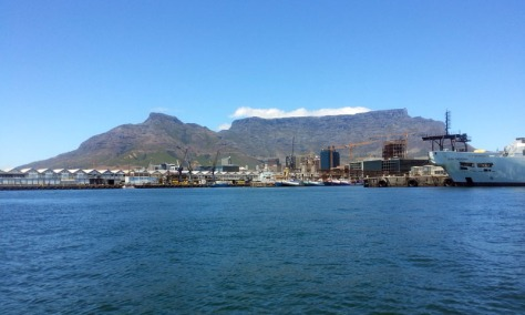 Table Mountain seen from sea.