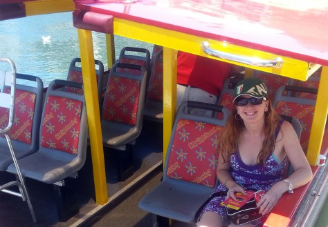 Sitting on City Sightseeing Cape Town harbour tour