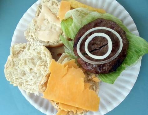 Onions on burger