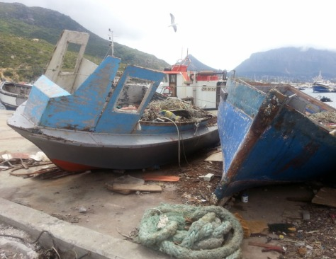 Old boats in Hout Bay