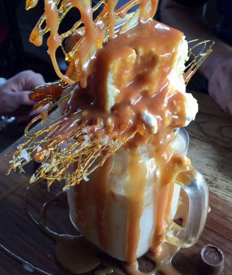 The salted caramel dessert shake at Craft