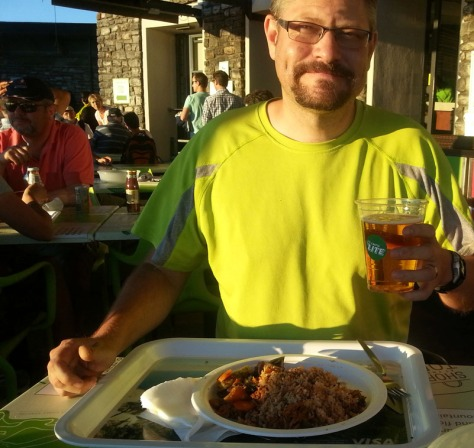 Curry and beer on top of Table Mountain