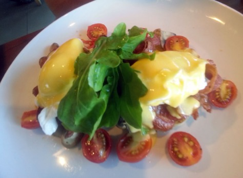 Big Ben benedict at News Cafe