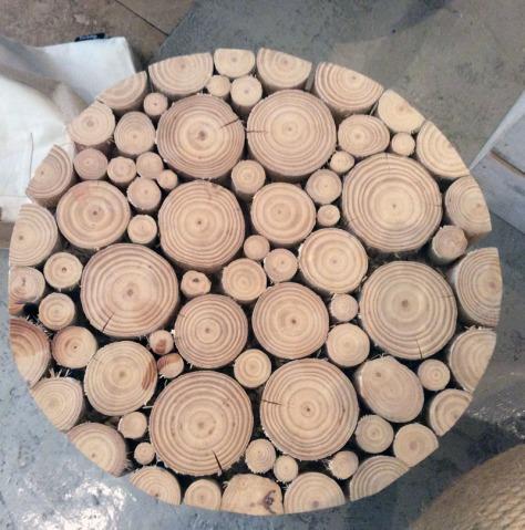 Wood seat at Design Indaba